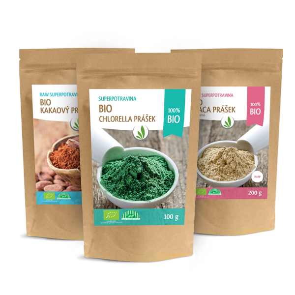 Superfoods in powder and proteins